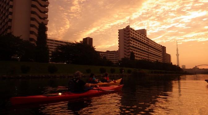 シーカヤックを体験してみよう@東京運河ナイトパドル